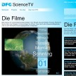Design - Website von DFG Science TV