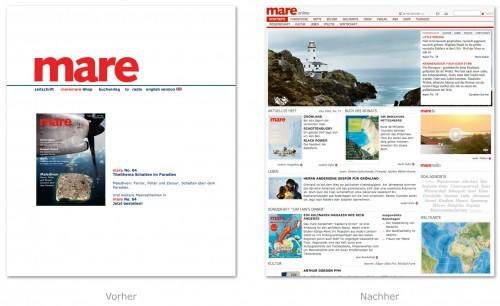 Design - mare.de in neuem Design
