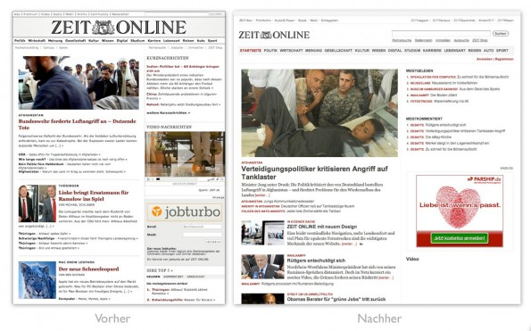 Design - ZEIT ONLINE Redesign gross