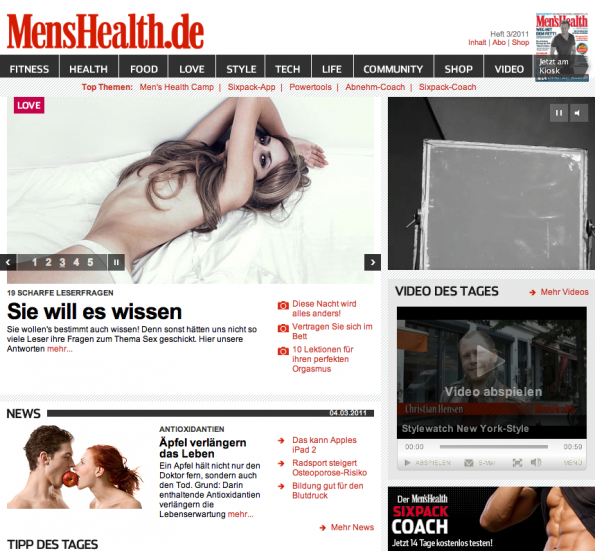 Design - MensHealth.de Redesign